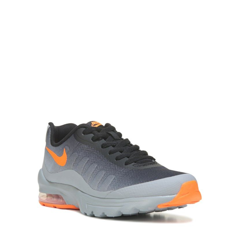 first rate 17417 d65b8 Nike Kids  Air Max Invigor Running Shoe Grade School Shoes (Grey Black  Orange) - 3.5 M