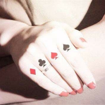 Tatuaz Na Palcach Karty Tatuaze Pinterest Tattoos Ink I Joker