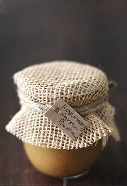 hessian covered + hand written tag with twine - simple + lovely