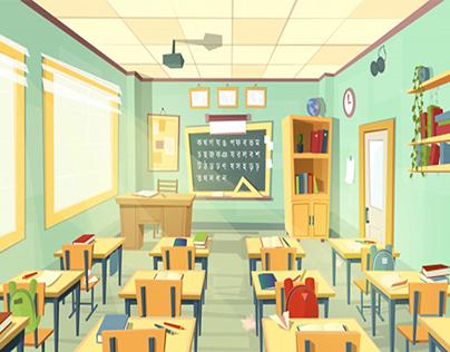 Classroom Illustration Science In 2020 Classroom Interior School Classroom Classroom Architecture