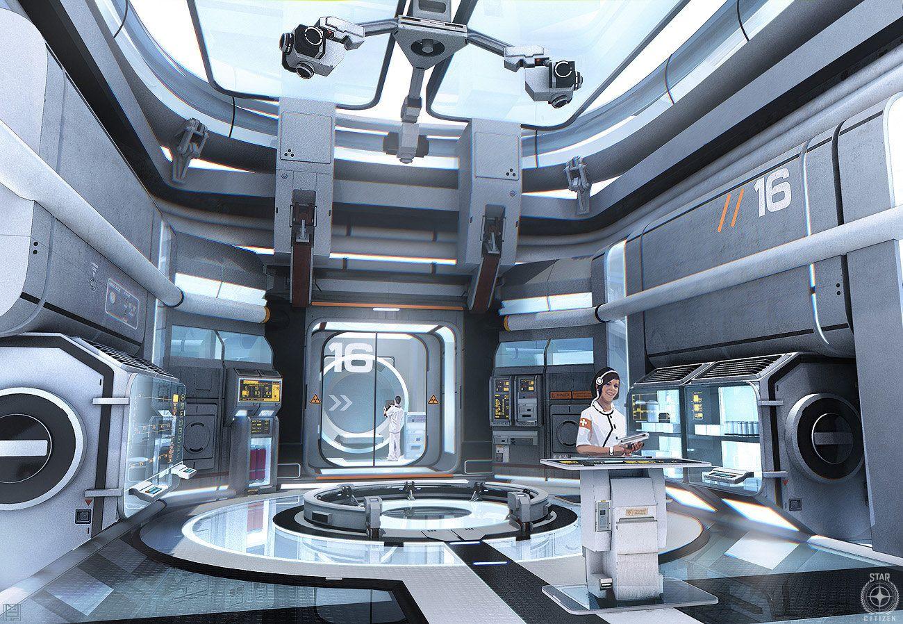 Star citizen medical unit nicolas ferrand on artstation for Innenraumdesign studium