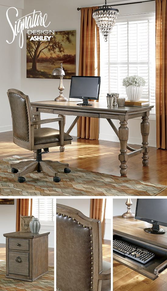 tanshire home office - ashley furniture | home office | pinterest