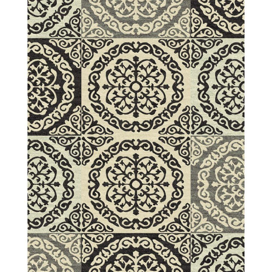 Shop Style Selections Gabany Rectangular Cream Transitional Woven Area Rug Common 8 Ft X 10 Ft A Area Rugs Indoor Area Rugs Transitional Area Rugs