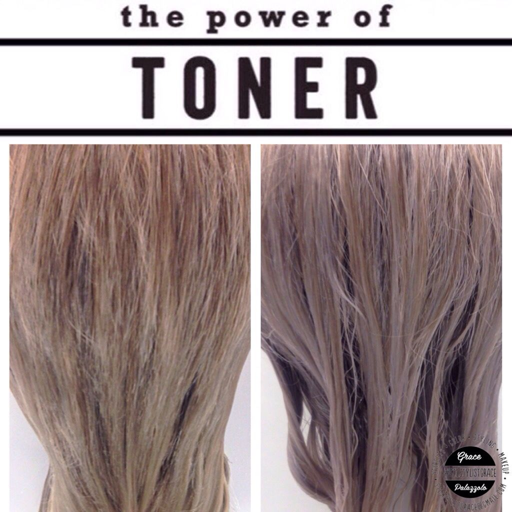 The Difference Toner Can Make On Blonde Hair With Images Toner