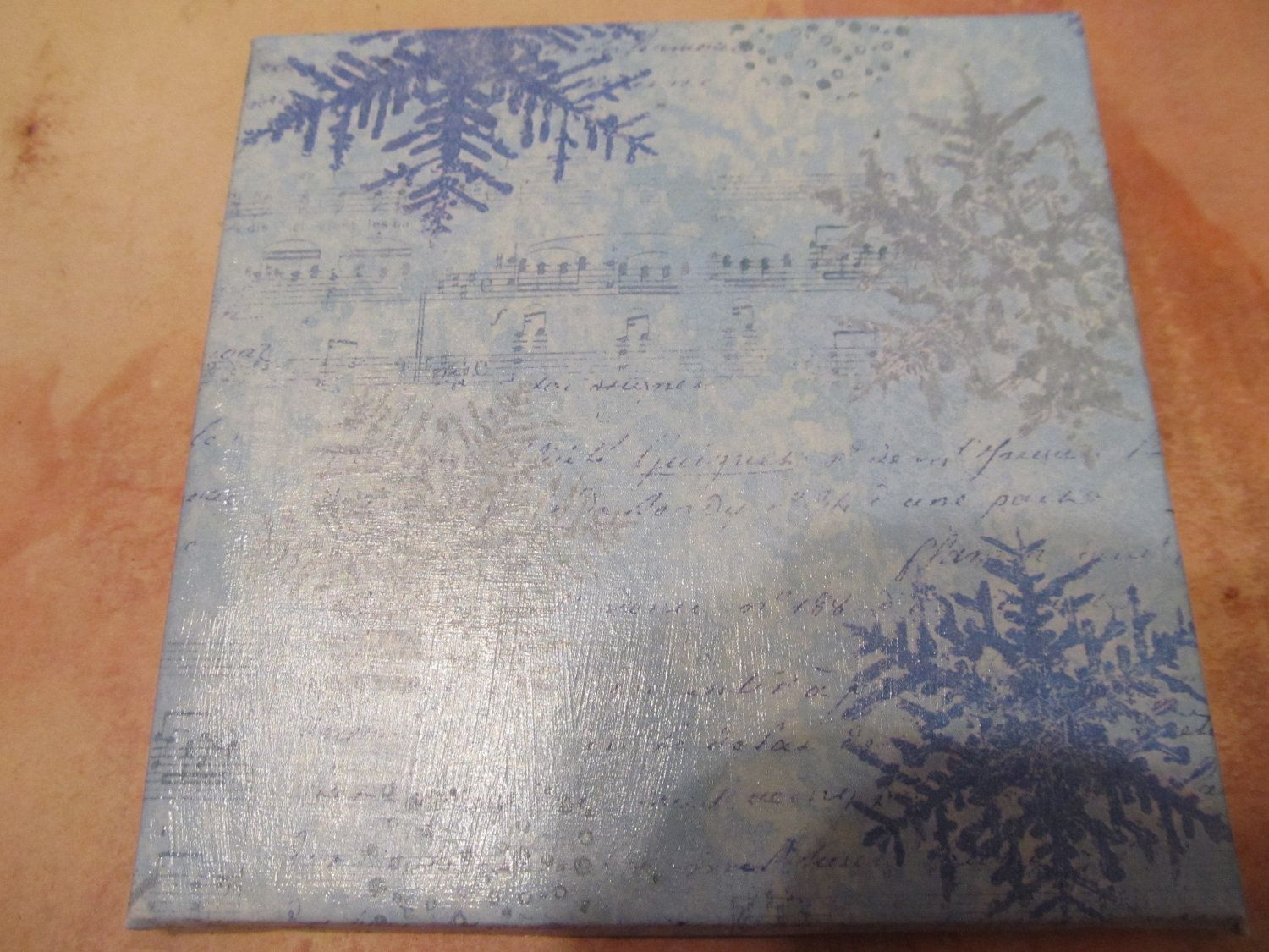 Marvelous Set Of 2 Snowflake Drink Coasters (optionally Display On A Wall). $11.99,