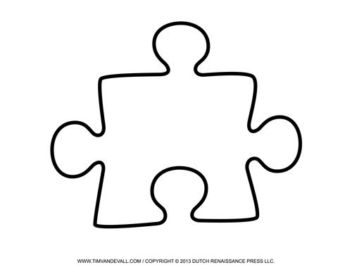 Large Printable Puzzle Piece Art Education Puzzle piece template