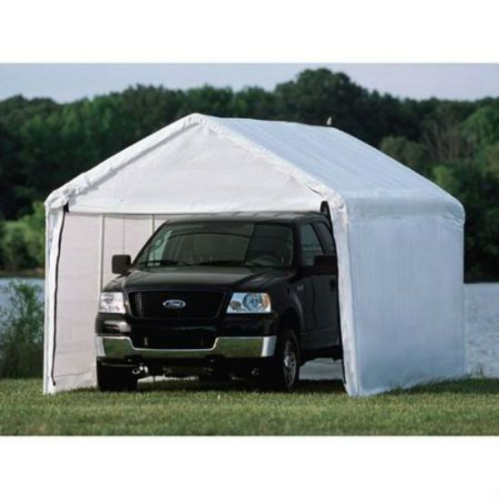 New Outdoor 10 X 20 Enclosed Canopy Kit Only Garage Carport Tent Shelter Kit Canopy Outdoor Canopy Tent Canopy