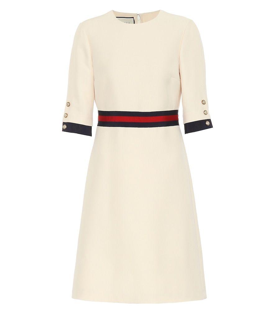 Kleid aus Wolle und Seide | Gucci kleider, Weiße kleider ...