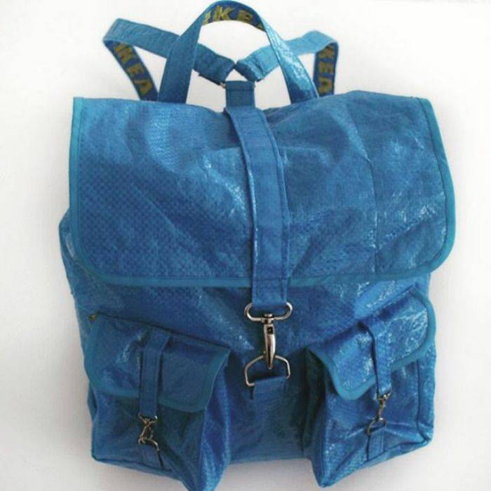 People Are Now Making Clothes Out Of 99 Cent Ikea Bags And They Look More In The 23 Range Blue Bags Bags Balenciaga Tote