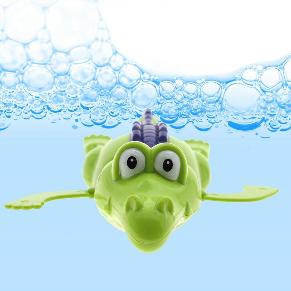 Baby toys images cartoon  Windup Baby Toy Bath Swimming Toy Crocodile Windup Toy Baby Bath