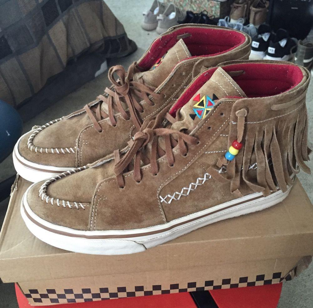 Vans JP V38 Fringe Sk8 Hi Sz 10 Moccasin Visvim Brown Suede Blends Wtaps #VANS #FashionSneakers