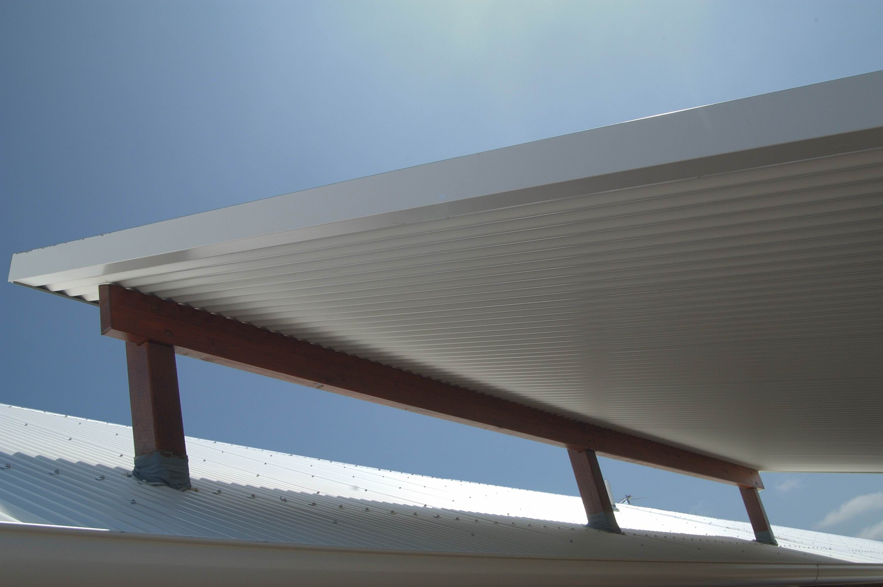 Add A Roof To Your Deck With A Flyer Over Roof. Ritek Roof Panels Are