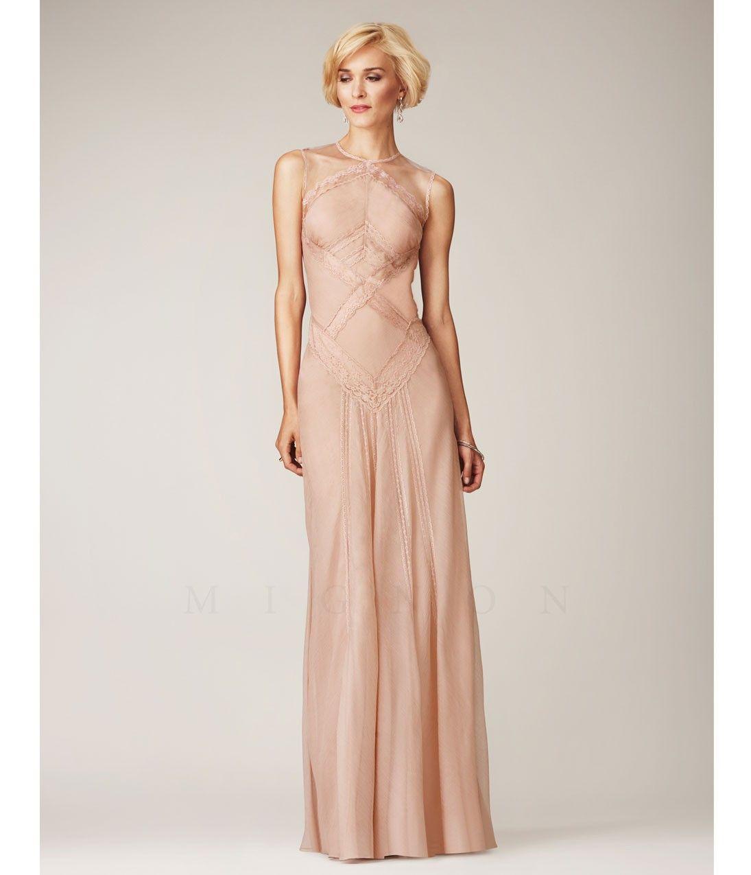 Camo and orange wedding dresses  Tearose Cross Lace Sheer Sleeveless Prom Dress  Dreamy Pink