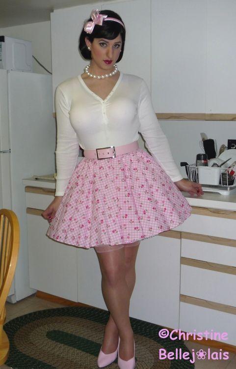 Transvestite sissy dress