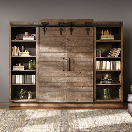 Sliding Barn Doors On Entertainment Center Surely I Can Build
