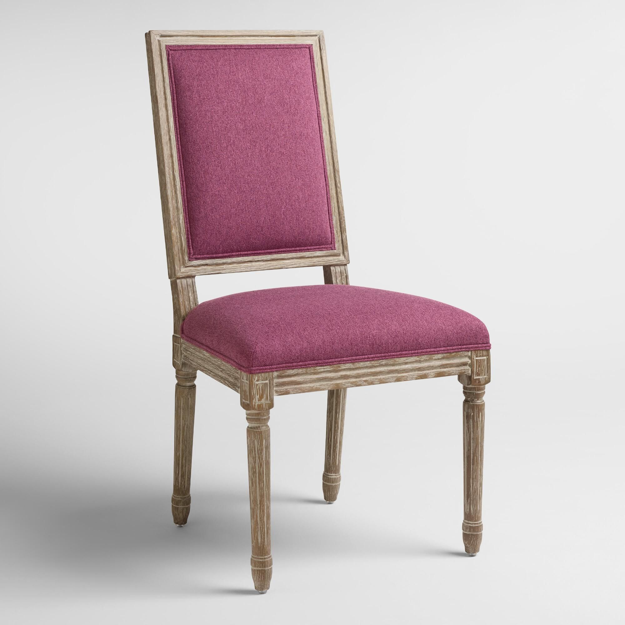 Raspberry Paige Square Back Dining Chairs Set of 2