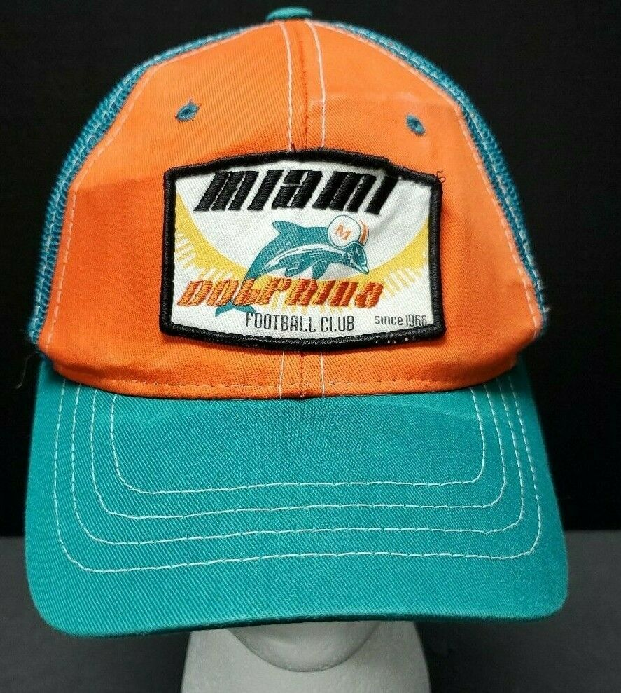 97e00c4e NFL Reebok Miami Dolphins Football Club Mesh Trucker Hat Snap Back ...