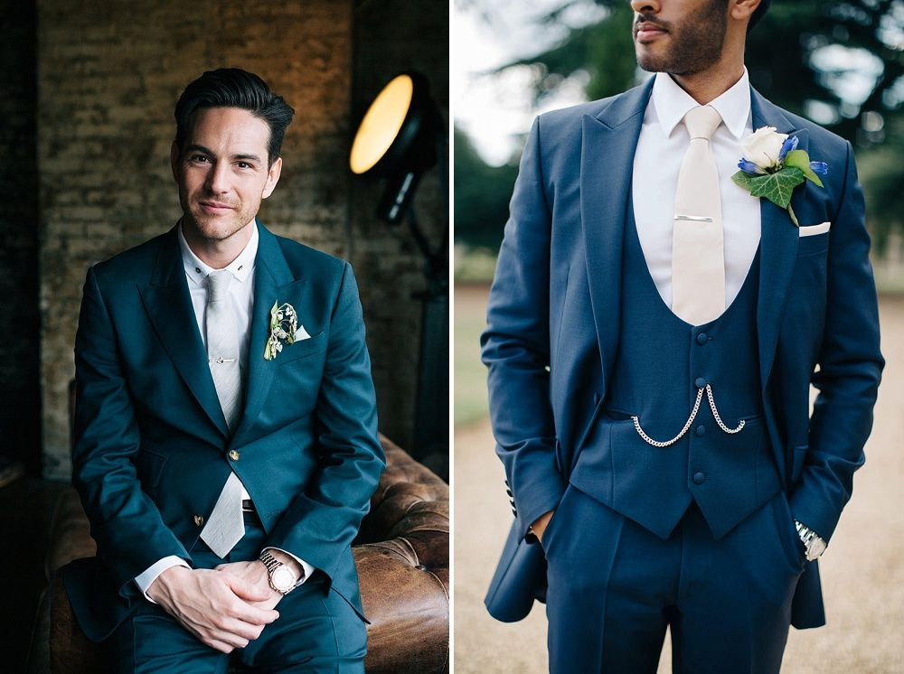 Trends For Grooms For 2018 | Stylish Ideas For Groomswear | Grooms Fashion  From Rock My Wedding | Black Tie For Groom | Groom In Checked Suit