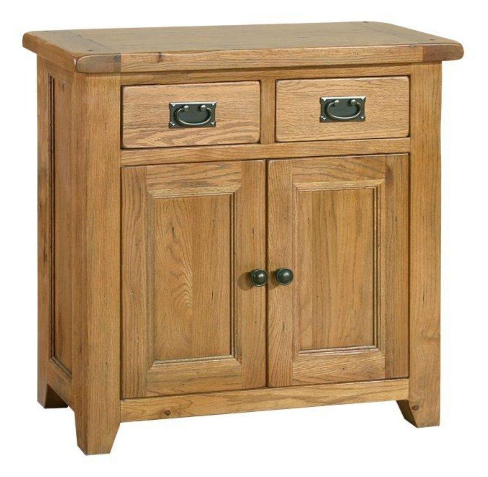 Bordeaux Rustic Oak Furniture Mini Sideboard
