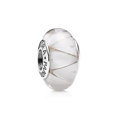 PANDORA   White looking glass   Pandora silver, Pandora bracelet ...