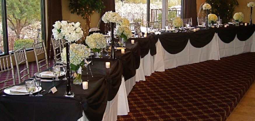 Black White Red Gold Reception Decorations And Wedding Centerpieces