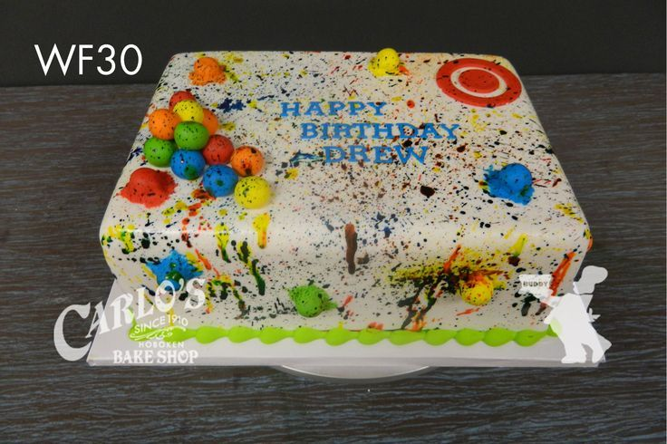 Paintball Cake Party Ideas Pinterest Paintball Cake Cake And