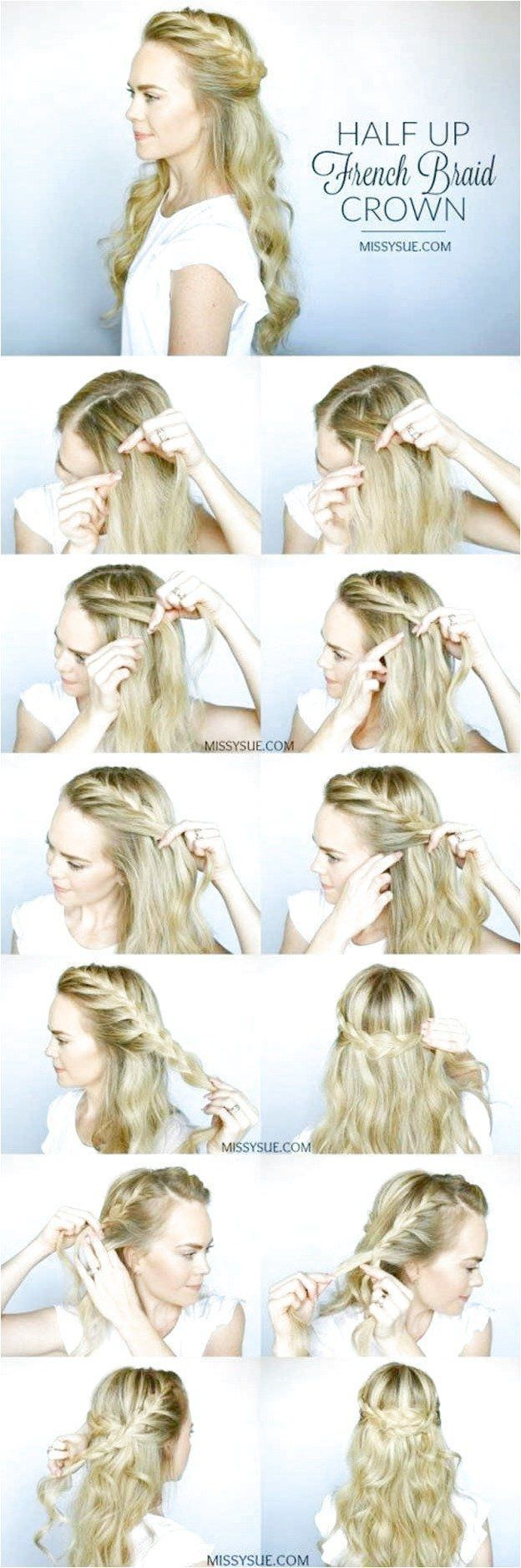 The Best Hair Instructions Half Up French Braid Crown Check In 2020 Braids For Medium Length Hair Hairstyles For Medium Length Hair Easy Medium Length Hair Styles