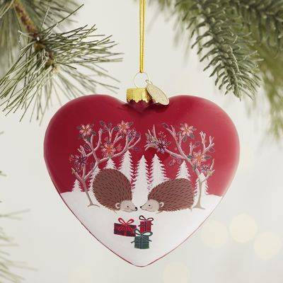 Cuteness Comes In Hedgehog Style With Our Sweet Heart Shaped Li Bien Ornament Artists Insert An L Shaped Br Heart Ornament Christmas Crafts Handmade Ornaments