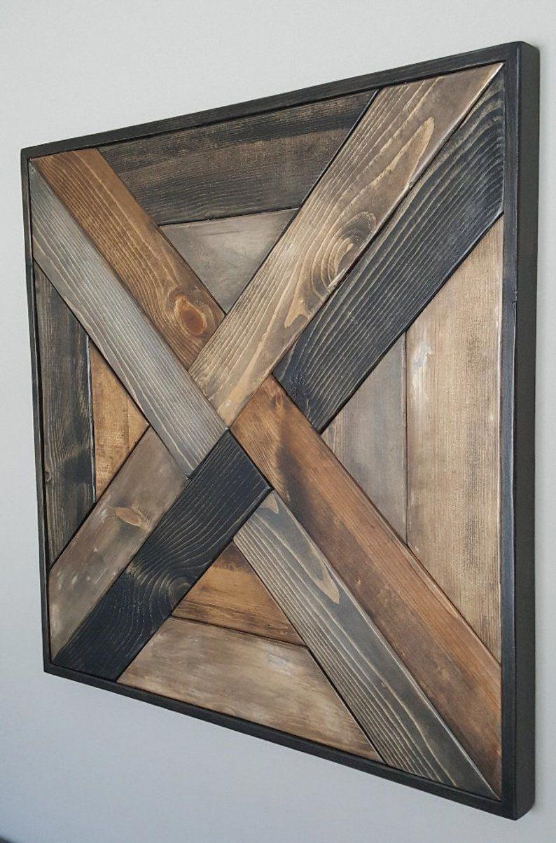 Photo of Weave Pattern Wood Wall Art   Etsy #DiyWoodworkingFurniture
