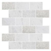 Meram Blanc Tumbled Amalfi Marble 12 X 12 In Thetileshop Backsplash The Tile Shop Marble Mosaic Tiles Tiles