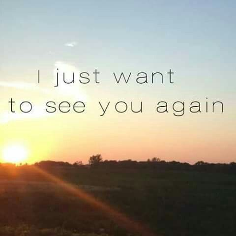 I Just Want To See You Again Quotes Pinterest Missing You
