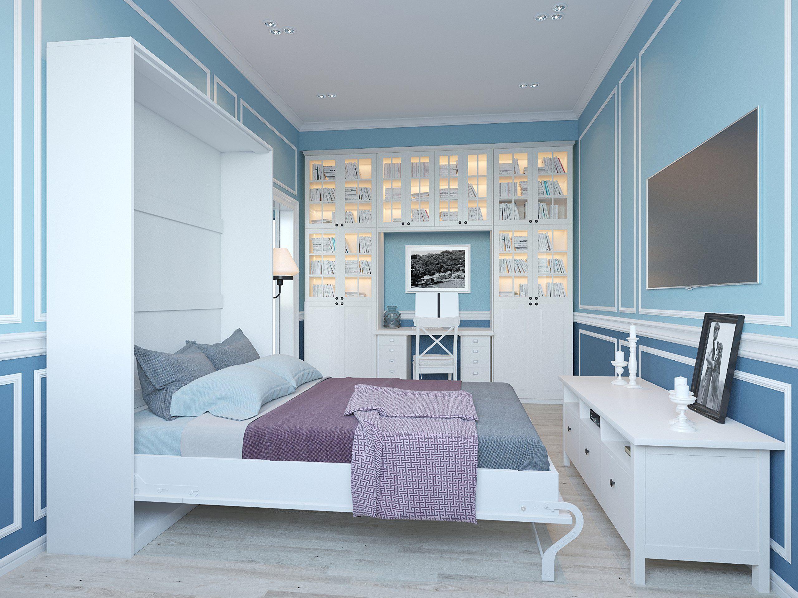 schrankbett 140x200 cm vertikal wei schrankklappbett wandbett ideal als g stebett. Black Bedroom Furniture Sets. Home Design Ideas