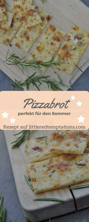 {Spontane Gäste} Knuspriges Last-Minute-Pizzabrot #schnellepartyrezepte