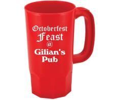 custom personalized plastic beer mug cups custom party favors