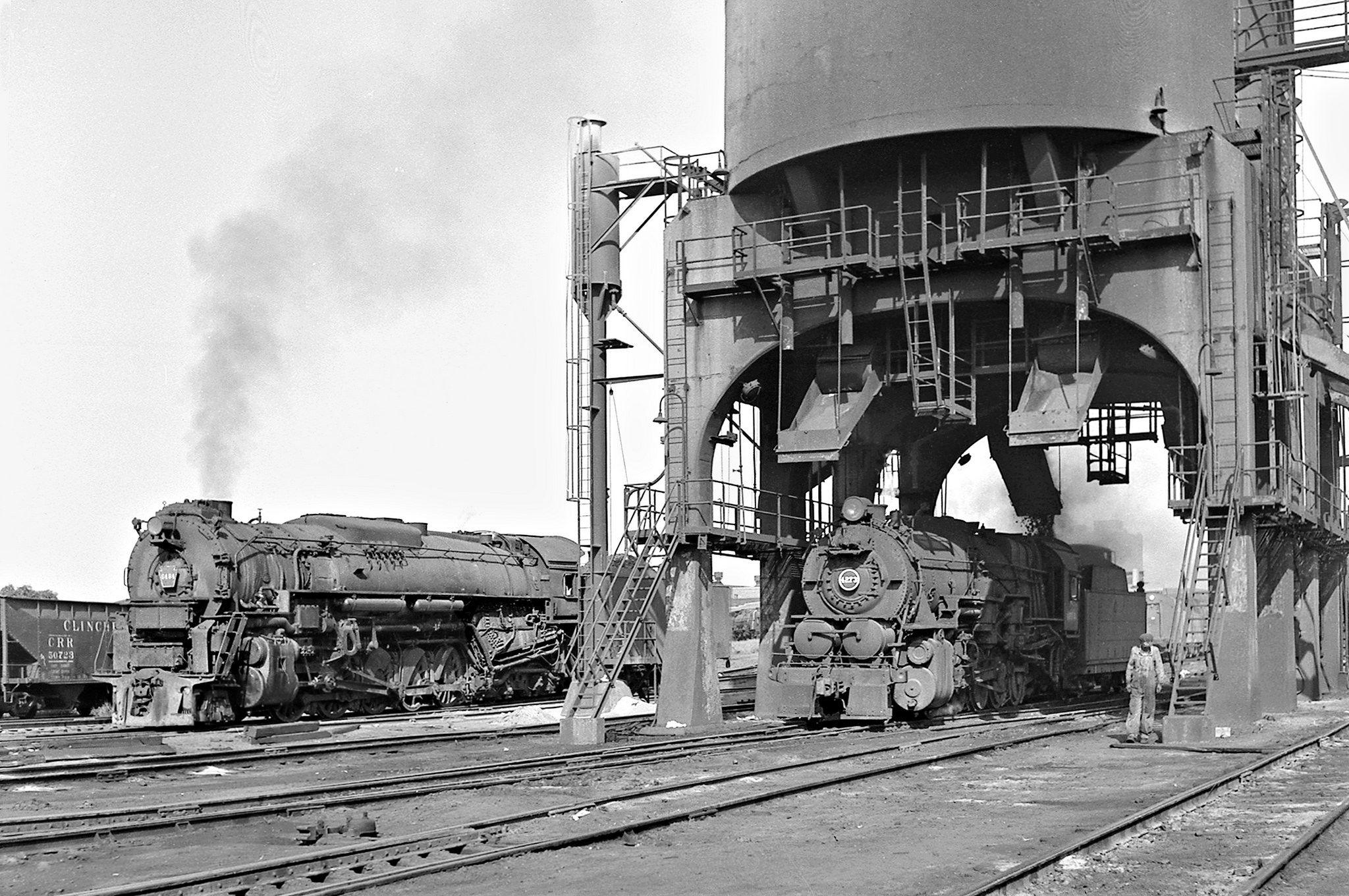 PRR, Columbus, Ohio, 1956 Pennsylvania Railroad steam