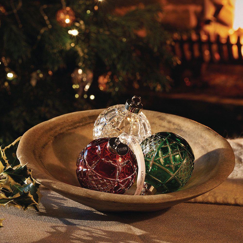Annual Crystal Ruby Ball Ornament 8cm Ball ornaments