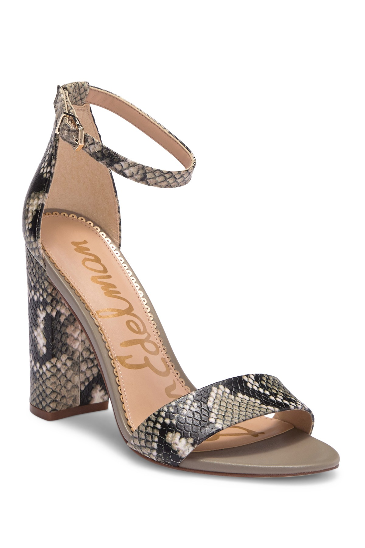 117800d51 Sam Edelman - Yaro Leather Block Heel Sandal is now 43% off. Free Shipping  on orders over  100.
