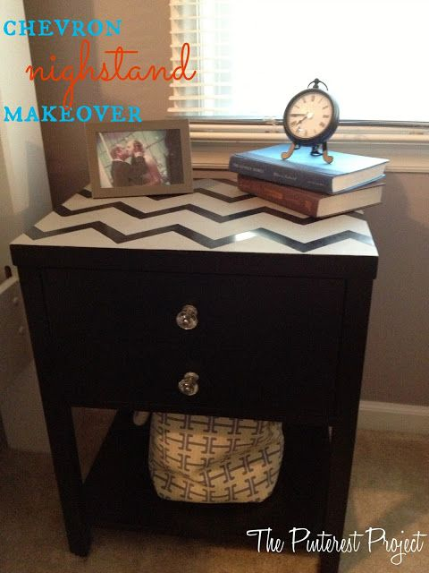 The Pinterest Project Chevron Nightstand Makeover With Annie Sloan Craie Peinture