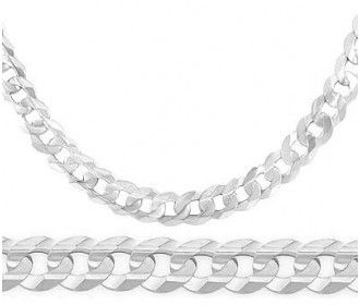 14k White Gold Cuban Curb Chain Solid Necklace Link 6 Mm 18 20 22 24 Inch Jewel Tie White Gold Bracelet Solid Necklace White Gold Necklaces