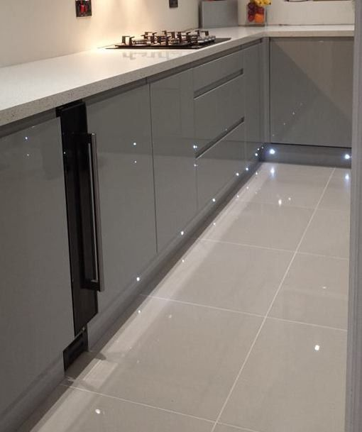 Doblo Light Grey Polished Porcelain House Flooring Grey Kitchen