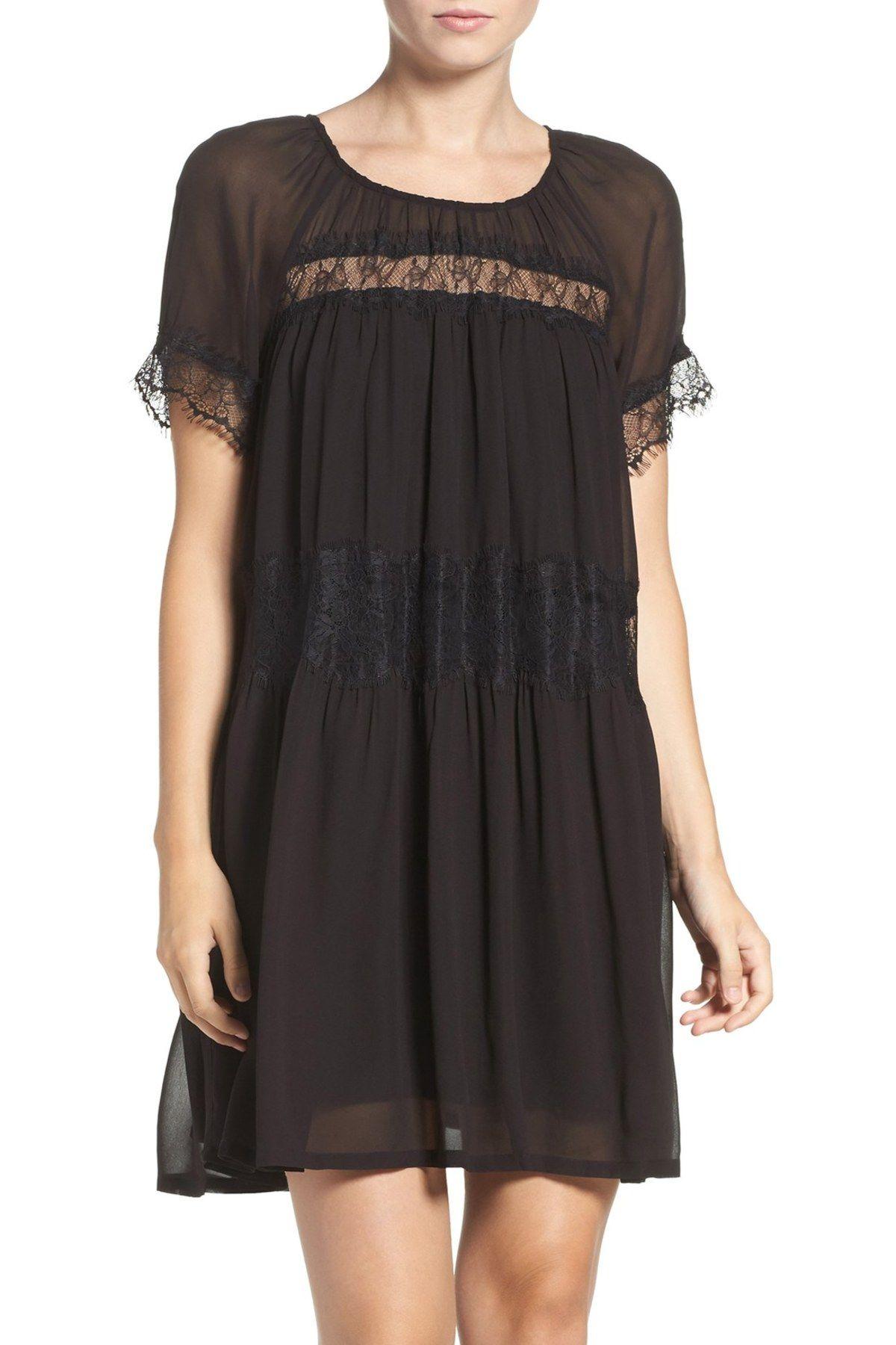 Lace Chiffon Babydoll Dress