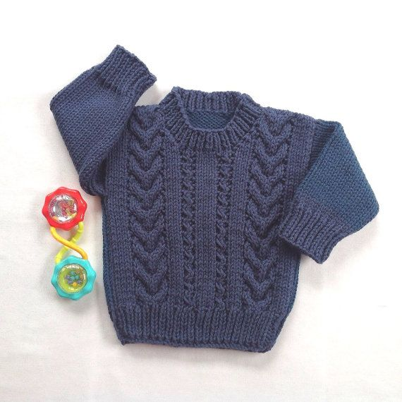812d61e26 Baby sweater 6 to 12 months Knit baby jumper by LurayKnitwear