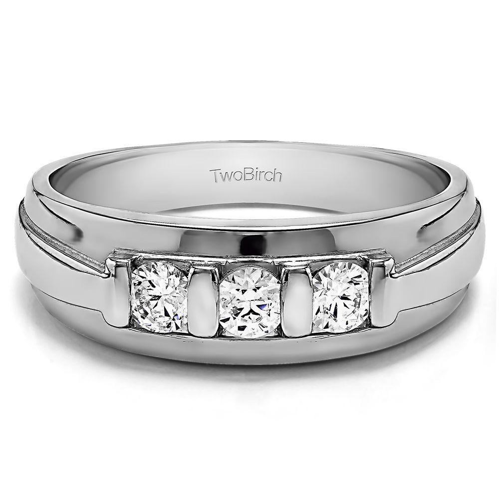 K white gold menus ct tdw diamond stone wedding band gh i
