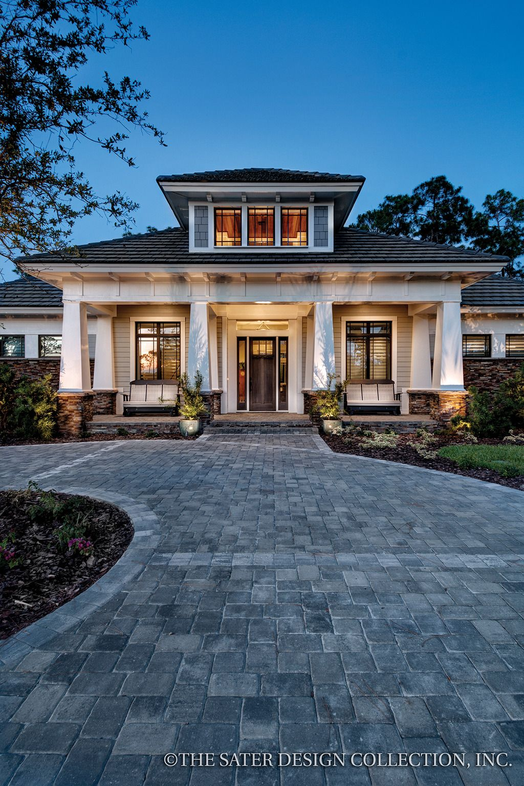 Exterior home design one story  Plan   Houseplans  beautiful homes  Pinterest  House