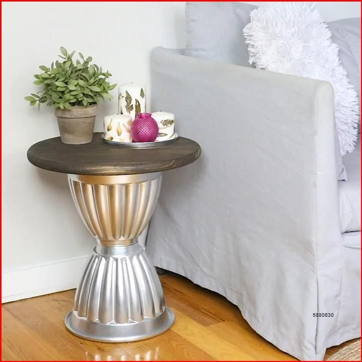 This gorgeous table is perfect for any budget! Check out Hometalk for 9 more gorgeous DIY budget friendly home decor ideas. #hometalk