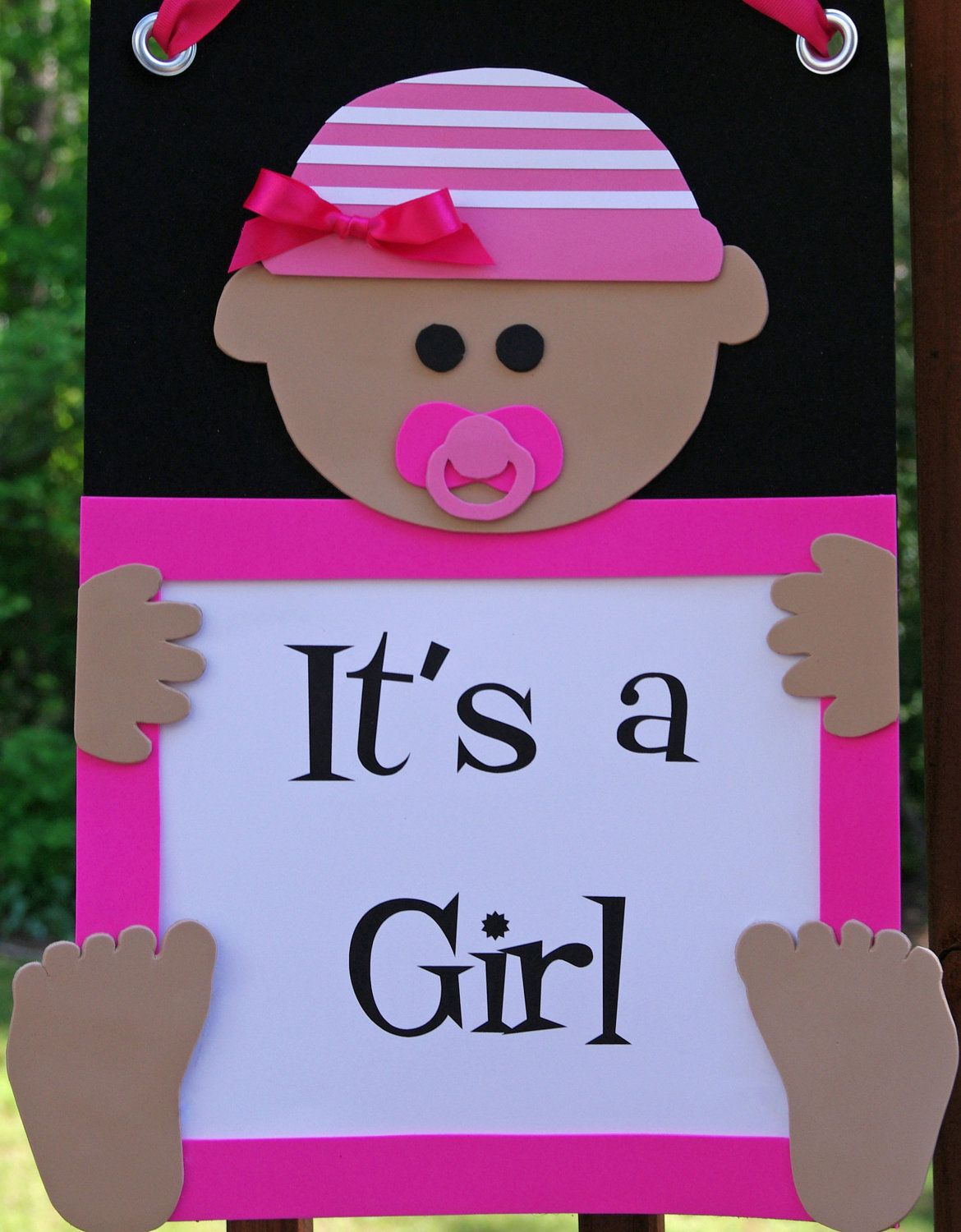 It 39 s a girl door sign welcome baby girl by for Baby welcome decoration ideas