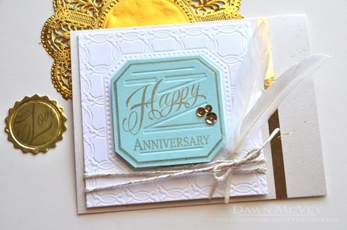 Happy anniversary card by dawn mcvey for papertrey ink february