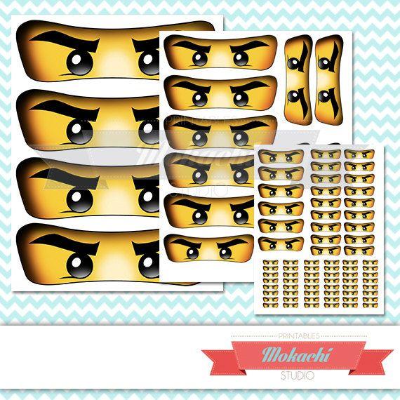 ninjago yeux autocollants par mokachistudio sur etsy