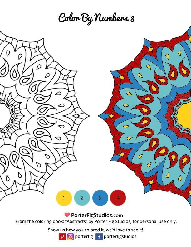 Free Mandala Coloring Page Color By Numbers 8 Mandala Coloring Pages Coloring Pages Halloween Coloring Pages