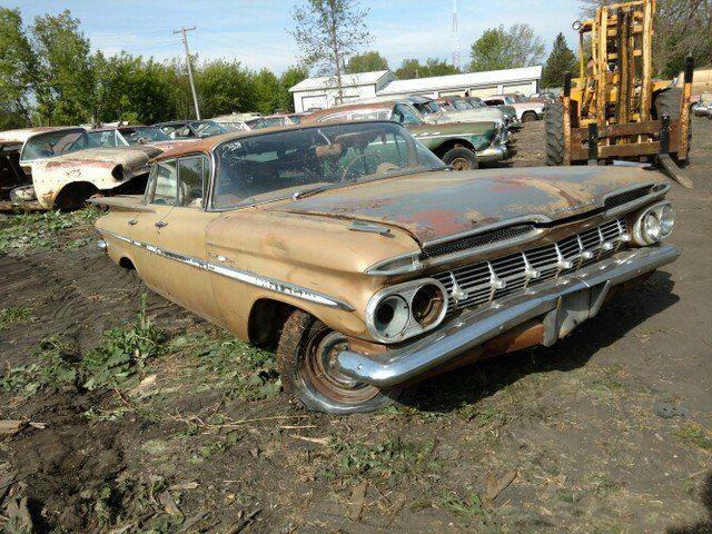 1959 Chevrolet Bel Air Flat Top Chevrolet Bel Air Barn Find Cars Abandoned Cars